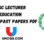 PPSC Lecturer Education Solved Past Papers PDF