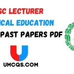 PPSC Lecturer Physical Education Solved Past Papers PDF